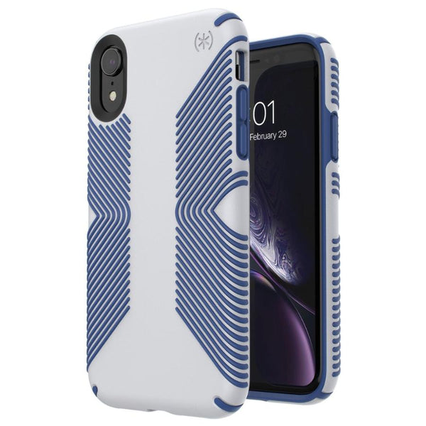 buy case for iphone xr grey blue colour. grip case from speck australia. get free shipping and afterpay payment