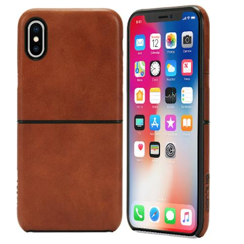 Incase Leather Textured Snap Case For Apple Iphone X Devices Tan Color Australia Stock
