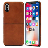 Incase Leather Textured Snap Case For Apple Iphone X Devices Tan Color