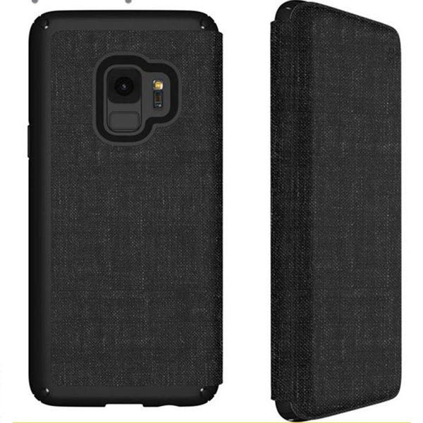 Speck Presidio Impactium Folio Case For Galaxy S9 Heathered Black/grey