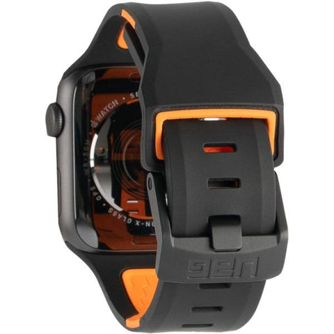 Buy new Apple Watch 44mm/42mm Civilian Silicone Watch Strap Band From UAG - Black/Orange with free express shipping Australia wide & Afterpay.