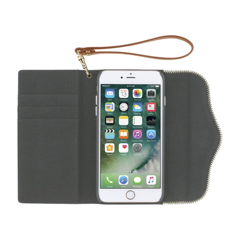 Rebecca Minkoff M.A.B Tech Wristlet Cover for iPhone 8/7 - Nude Leather