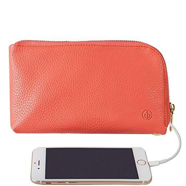Chic Buds Clutchette Power Portable Charger Charging Purse for Universal - Coral Australia Stock