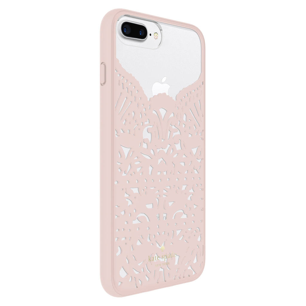KATE SPADE NEW YORK LACE CAGE CASE FOR IPHONE 8 PLUS/7 PLUS - LACE HUMMINGBIRD BLUSH/CLEAR Australia Stock