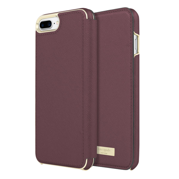 Shop Australia stock Kate Spade New York Card Folio Case for iPhone 8 Plus/7 Plus - Saffiano MAHOGANY with free shipping online. Shop Kate Spade New York collections with afterpay
