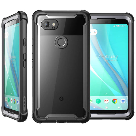 Place to buy ARES FULL-BODY RUGGED CLEAR CASE FOR GOOGLE PIXEL 2 XL - BLACK/CLEAR I-BLASON online in Australia free shipping & afterpay.