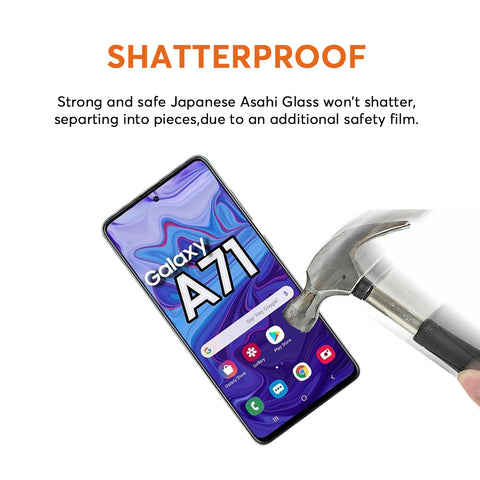 buy onlline local stock tempered glass for samsung a71