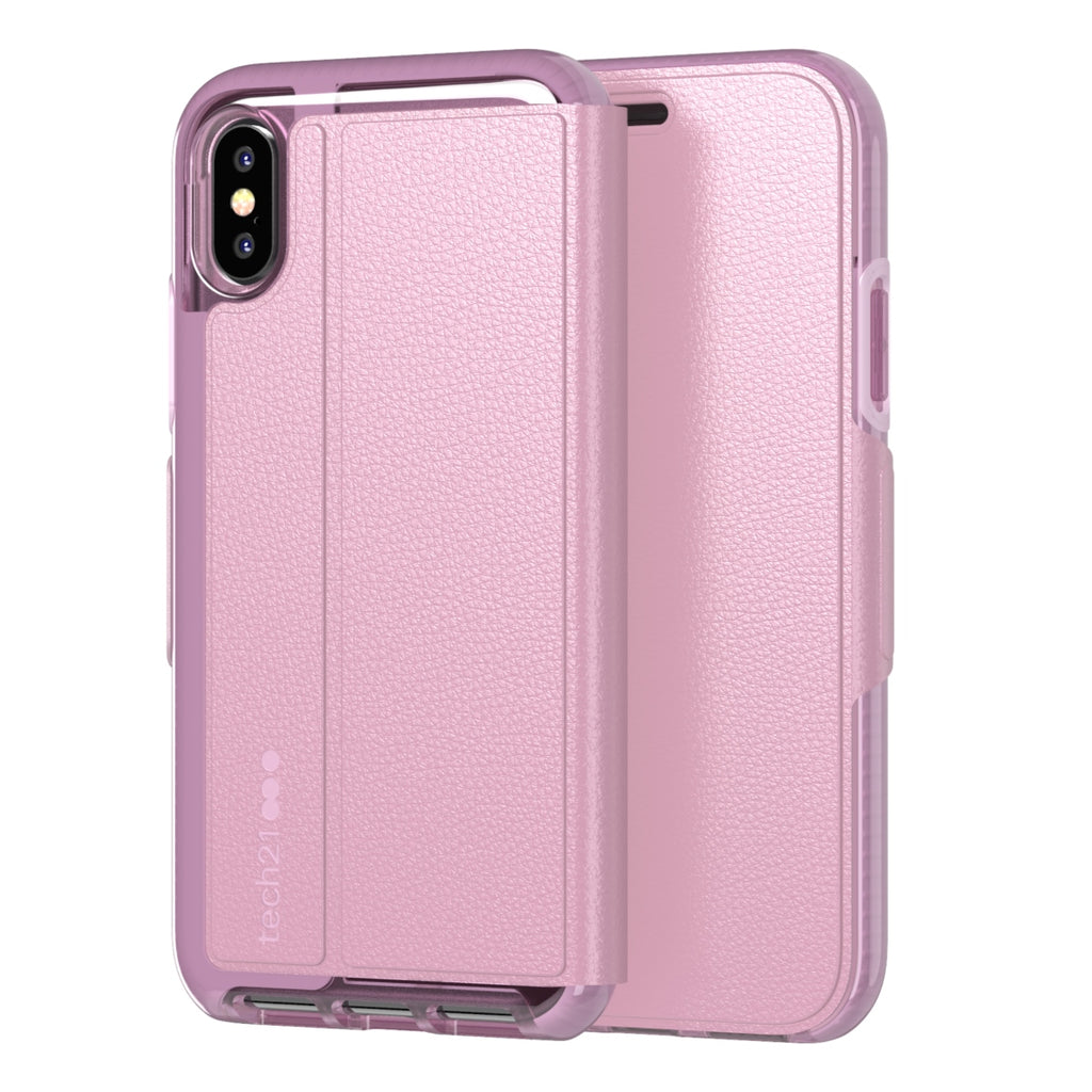 pink folio case for iphone x/xs from tech21 australia Australia Stock