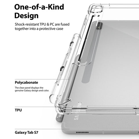 tpu polycarbonate clear case for samsung tab s7 from ringke. shop online with free express shipping australia wide only at syntricate