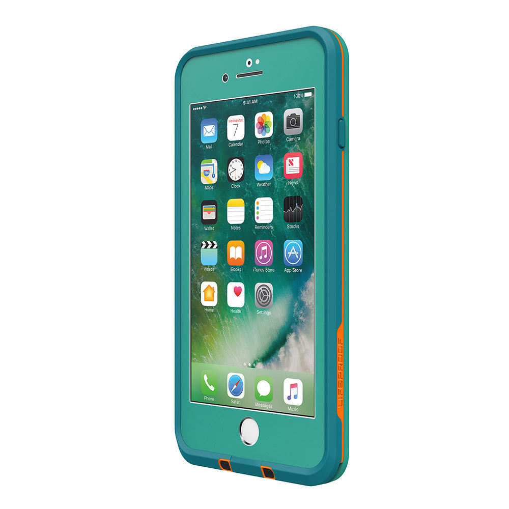 Authorized distributor Australia Lifeproof Fre Built-in Scratch Protector iPhone 7+ Plus Waterproof Case Teal Green Australia Stock