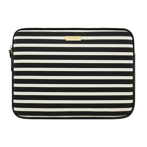 buy kate spade new york printed sleeve for new surface pro /pro 4/pro 3 - fairmont square black/cream australia