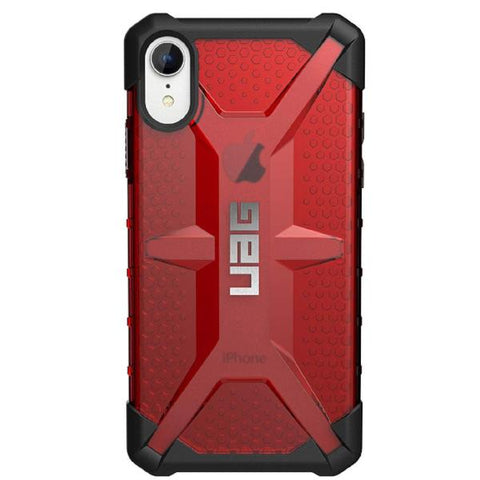 buy online iphone xr case red colour from uag. buy at syntricate with free express australia shipping, local warranty & afterpay payment.