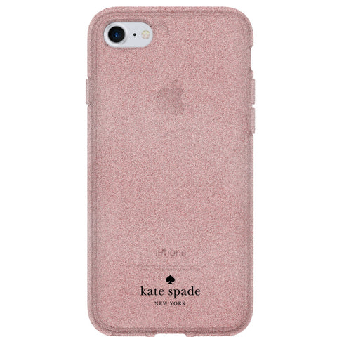 KATE SPADE NEW YORK FLEXIBLE GLITTER CASE FOR iPHONE 8/7/6S - ROSE GOLD