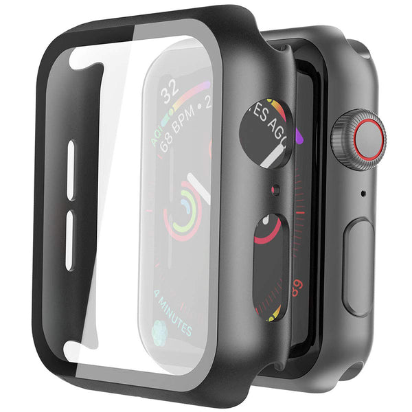 Lito Tempered Glass Screen Protector PC Case For Apple Watch Series 5/4 (44MM)