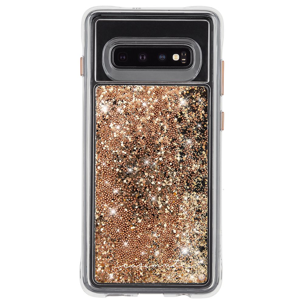 glitter gold case for new Samsung Galaxy S10 plus with drop protection & stylish casemate design Australia Stock