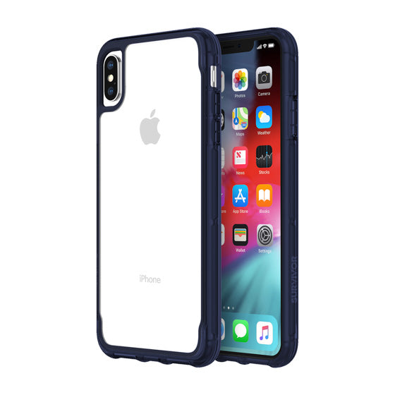 iPhone Xs & iPhone X Blue Clear case from Griffin Survivor Australia
