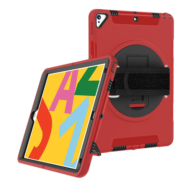 FLEXII GRAVITY 360 ARMOR CASE W/HAND STRAP FOR IPAD AIR (3RD GEN)/PRO 10.5 - RED