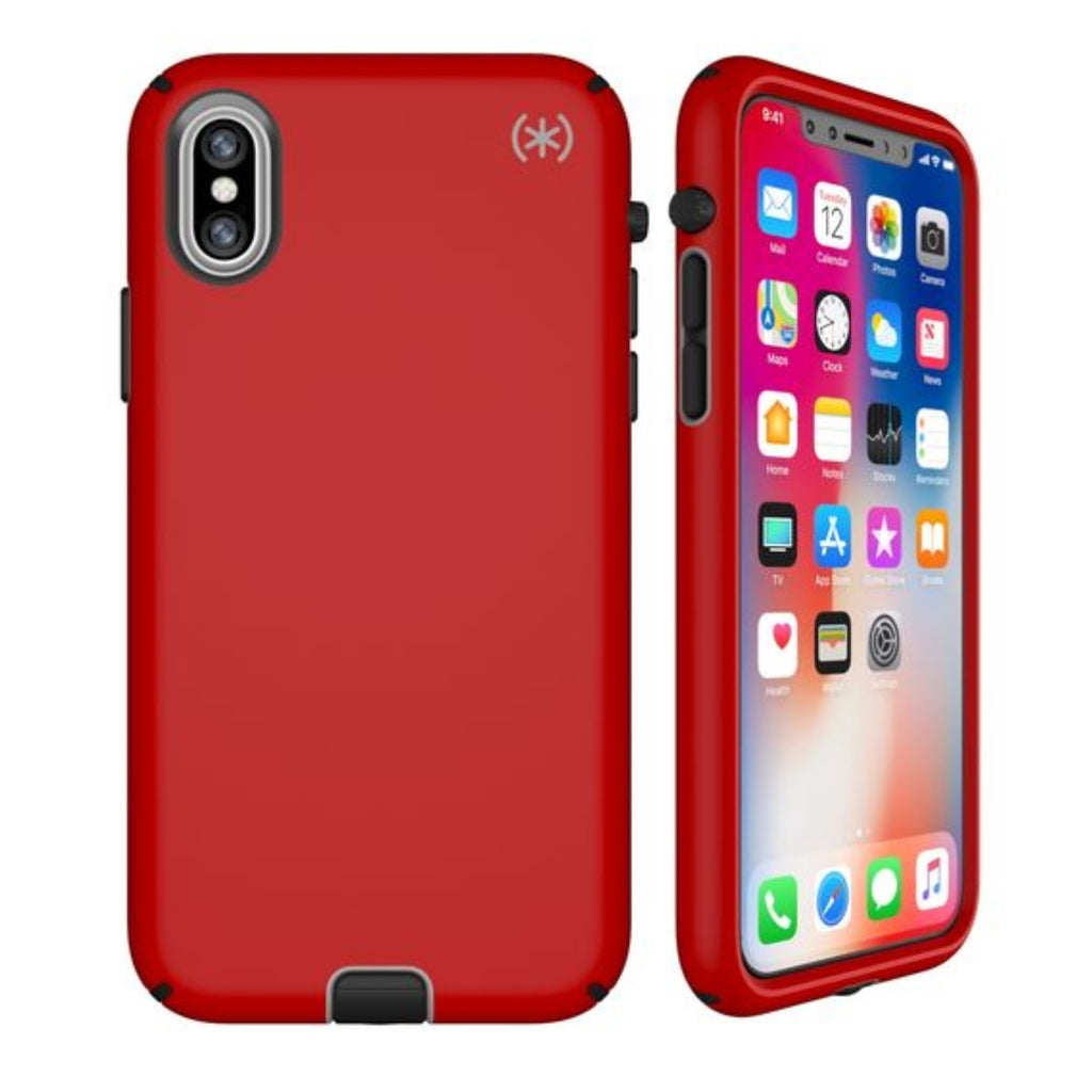 non slip red case for iPhone Xs & iPhone X with free shipping from Speck Australia Australia Stock