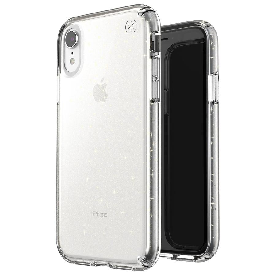Speck Presidio Clear Glitter Impactium Case For Iphone Xr Gold