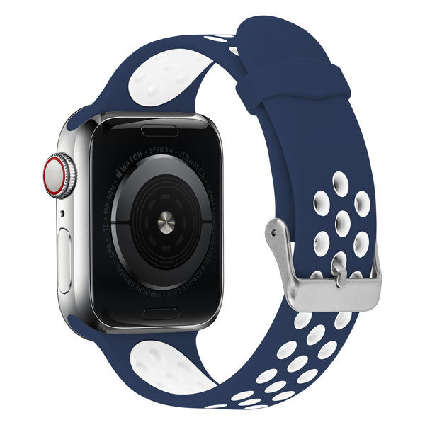 FLEXII GRAVITY Sport Silicone Band for Apple Watch Series 5/4/3/2 (44/42MM) - Blue/White