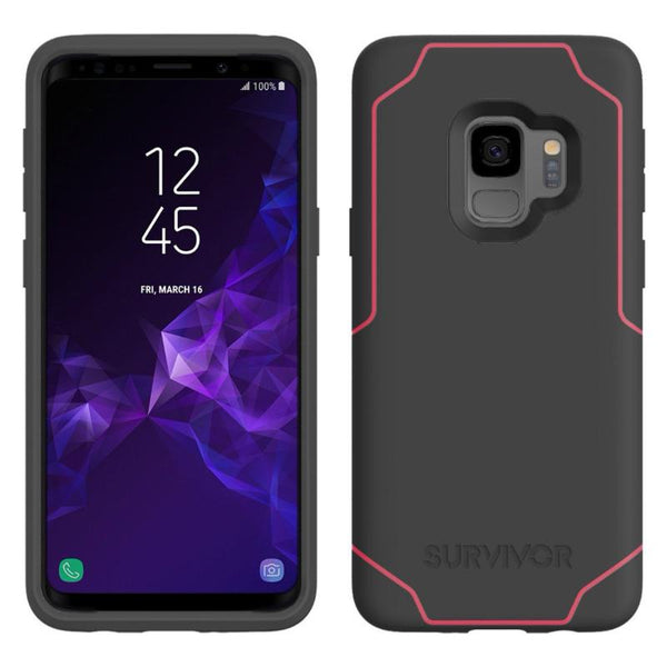 GRIFFIN SURVIVOR STRONG CASE FOR GALAXY S9 - GREY/PINK