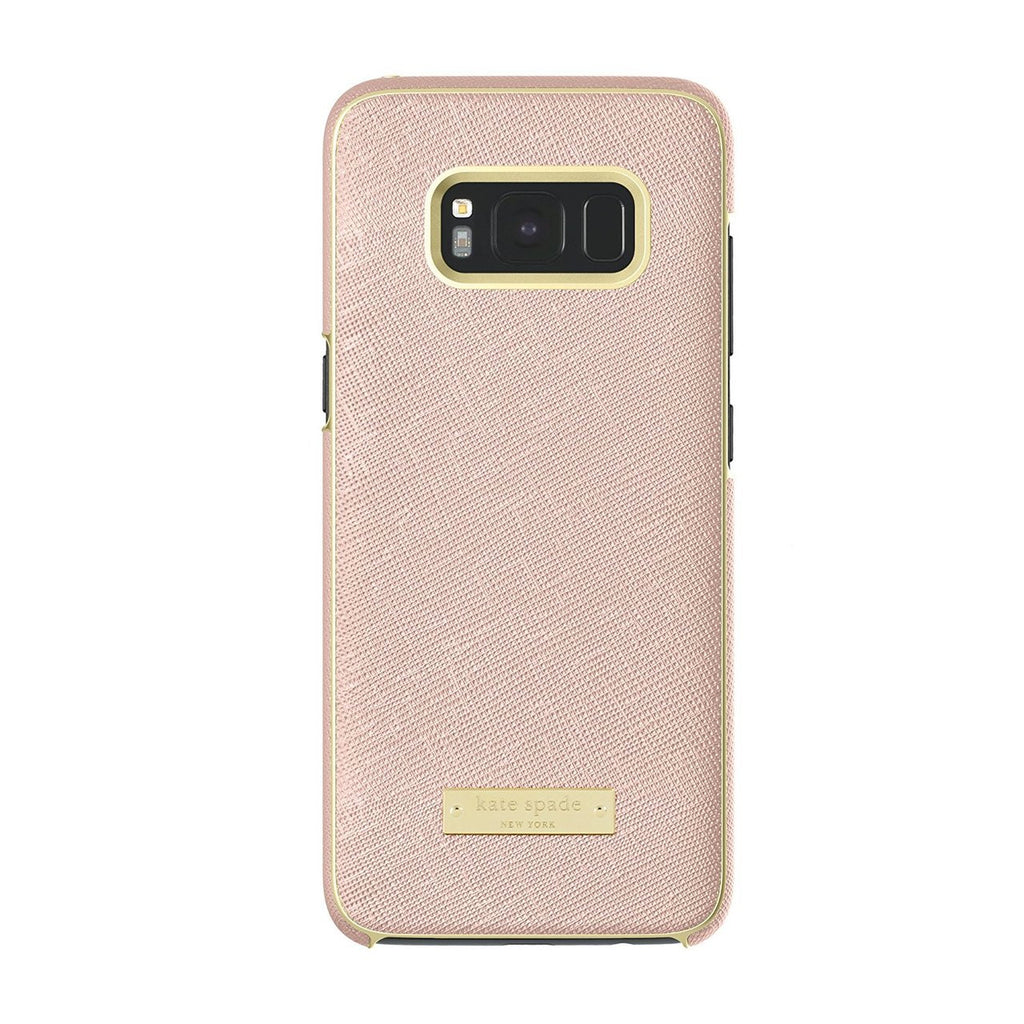KATE SPADE NEW YORK WRAP PROTECTIVE CASE FOR GALAXY S8+ (6.2 inch) - SAFFIANO ROSE GOLD / GOLD LOGO PLATE Australia Stock