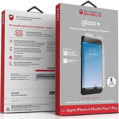Shop Australia stock ZAGG InvisibleShield GlassPlus Tempered Screen Protector for iPhone 8 Plus/7 Plus/6s Plus with free shipping online. Shop Zagg collections with afterpay Australia Stock