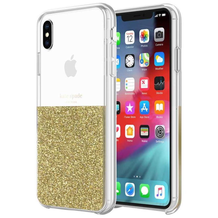 half half gold clear case for iphone xs max australia from kate spade designer series case Australia Stock