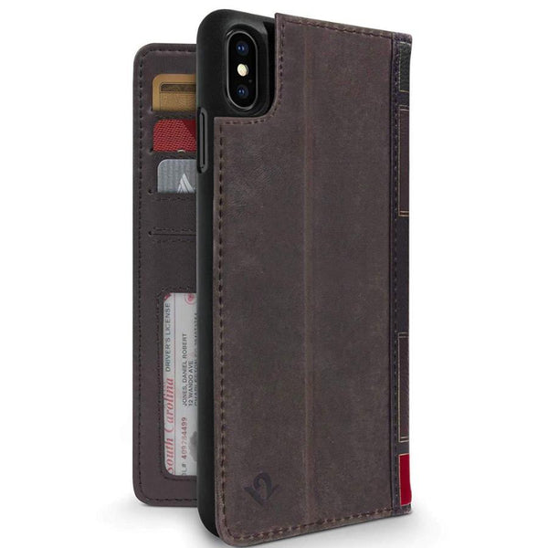leather case with card slots for iphone xs max