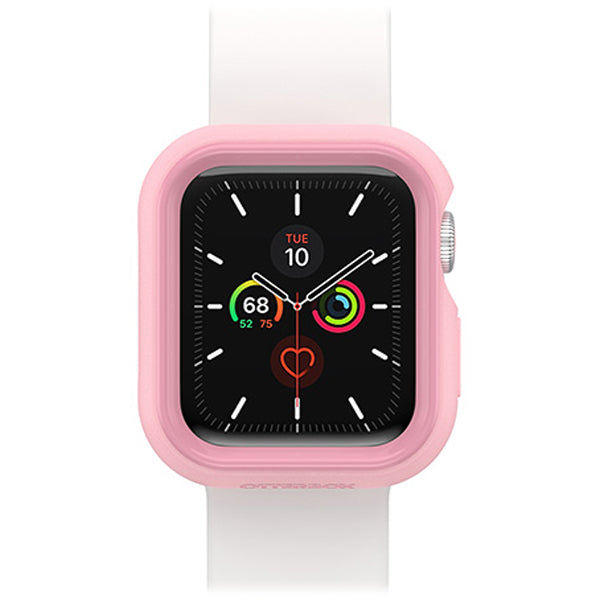 cute silicone watch strap pink white colour for apple watch series se/6/5/4 from otterbox