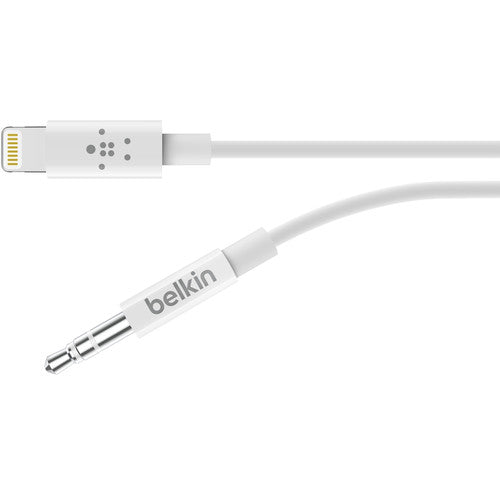 BELKIN 3.5MM AUDIO CABLE WITH LIGHTNING CONNECTOR (1.8M) - WHITE Australia Stock