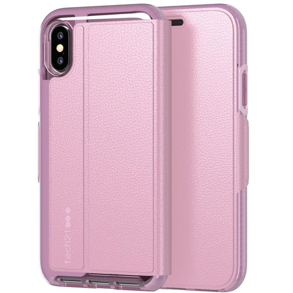 Orchid Pink case from Tech21 Australia for new iPhone XS Max. Folio style case for every day use