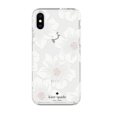 Stylish iPhone Xs & iPhone X case with flower pattern from Kate Spade New York