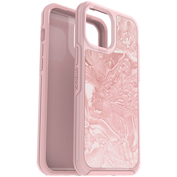 The new rugged case with girly design and pink color and triple drop protection for your iphone 12 mini, shop online at syntricate and get free express shipping.