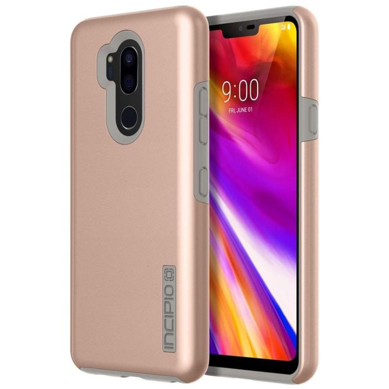 new styles 9ef3e aab15 INCIPIO DUALPRO THE ORIGINAL DUAL LAYER CASE FOR LG G7 THINQ - IRIDESCENT  ROSE GOLD