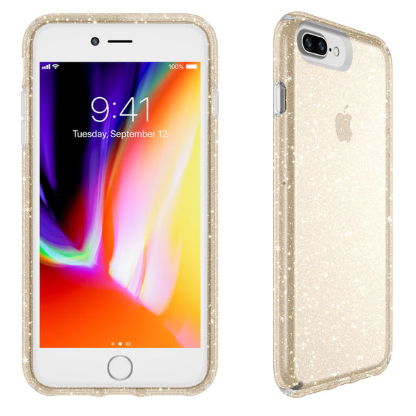 Speck Presidio Clear Glitter IMPACTIUM Case for iPhone 8 Plus/7 Plus - Gold Glitter syntricate Australia