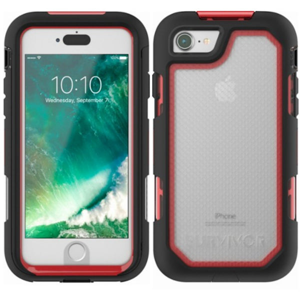 store place to buy online GRIFFIN SURVIVOR EXTREME CASE FOR iPHONE 8/7 - BLACK/RED/TINT authorized distributor free shipping australia wide