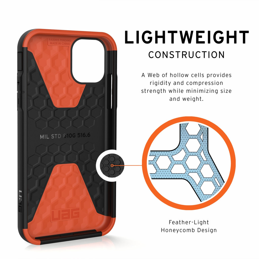 "Shop Australia stock UAG Civilian HoneyComb Core Case for iPhone 11 (6.1"") - Black with free shipping online. Shop UAG collections with afterpay Australia Stock"