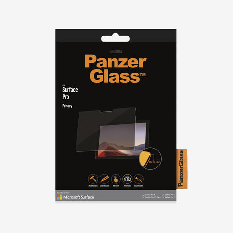 surface pro 4/5/6/7 tempered glass from panzerglass. buy online with afterpay payment and free shipping australia wide