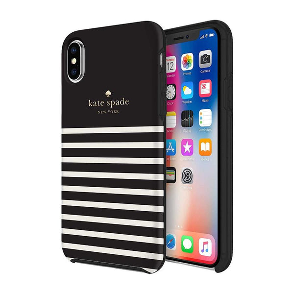 iPhone Xs & iPhone X Designer stripe style case from Kate Spade Australia