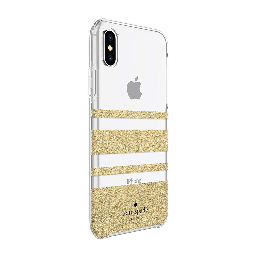 Shop Australia stock KATE SPADE NEW YORK PROTECTIVE HARDSHELL CASE FOR IPHONE XS/X - STRIPE GOLD GLITTER with free shipping online. Shop Kate Spade New York collections with afterpay Australia Stock