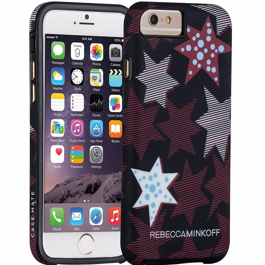 store to buy CaseMate Rebecca Minkoff Tough Print Case for iPhone 6/6S - Striped Red Stars free shipping australia Australia Stock