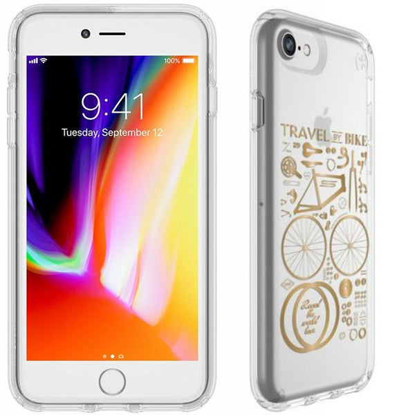 Shop Australia stock Speck Presidio Clear Print IMPACTIUM Case for iPhone 8 Plus/7 Plus - CITY BIKE METALLIC GOLD YELLOW with free shipping online. Shop Speck collections with afterpay