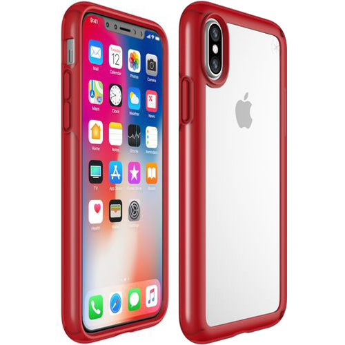 trusted online store for buy and order brand new Speck Presidio Show Impactium Case For iPhone XS / iPhone X - Red/Clear authorized distributor and free shipping for Australia wide Australia Stock