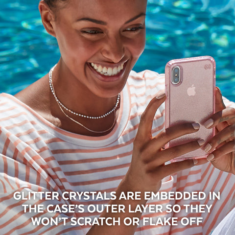 Shop Australia stock SPECK PRESIDIO CLEAR GLITTER IMPACTIUM CASE FOR iPHONE XS/X - BELLA PINK GOLD with free shipping online. Shop Speck collections with afterpay
