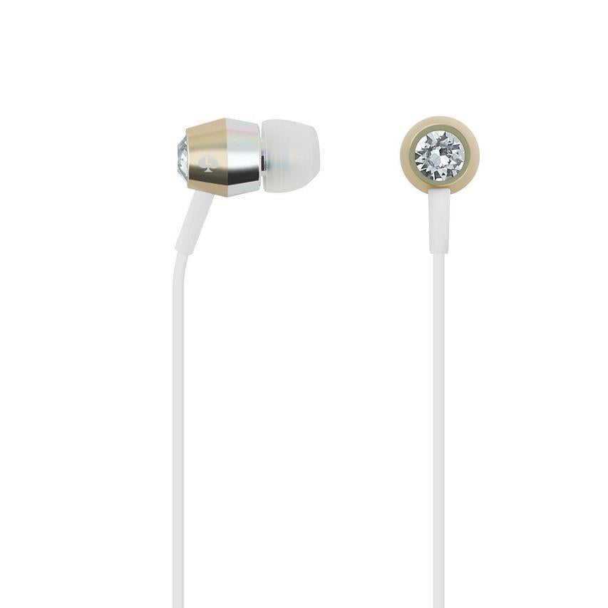 KATE SPADE NEW YORK CRYSTAL EARBUDS - CRYSTAL/GOLD/SILVER/WHITE Australia Stock