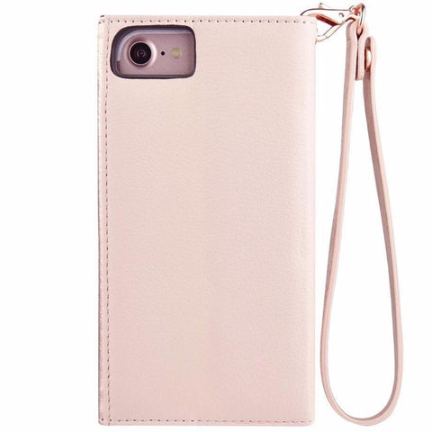 CASEMATE WRISTLET LEATHER CARD FOLIO CASE FOR iPHONE 8/7/6S - ROSE GOLD