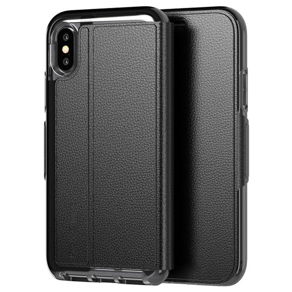 iPhone Xs & iPhone X Tech21 Folio Case black with free shipping & Authentic