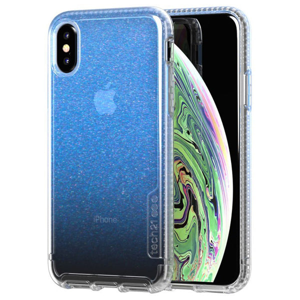 Blue clear case for iPhone Xs & iPhone X from Tech21 Australia