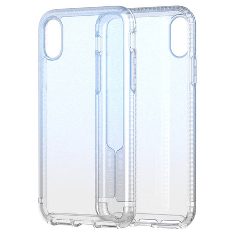 cleat transparent blue case from Tech21 for iPhone Xs & iPhone X